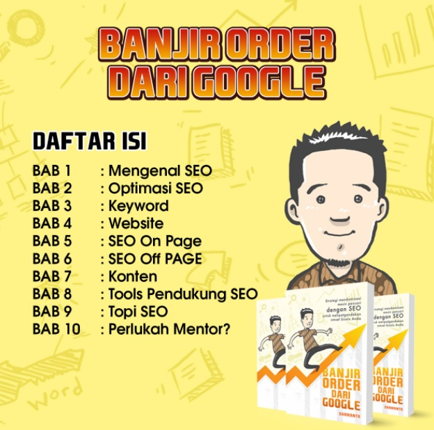Isi buku seo banjir order dari search engine google